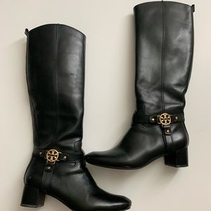 Black Tory Burch riding boots